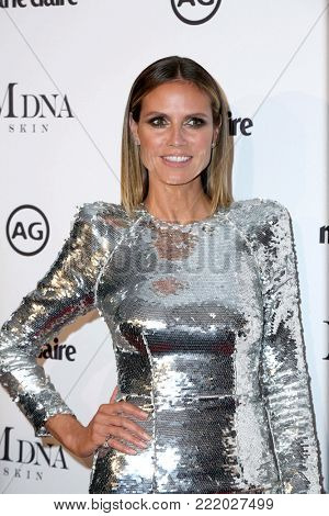 LOS ANGELES - JAN 11:  Heidi Klum at the Marie Claire Image Makers Awards 2018 at the Delilah on January 11, 2018 in West Hollywood, CA