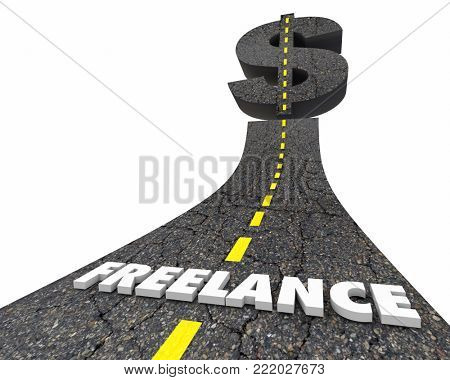Freelance Road to Income Earnings Job Success 3d Illustration