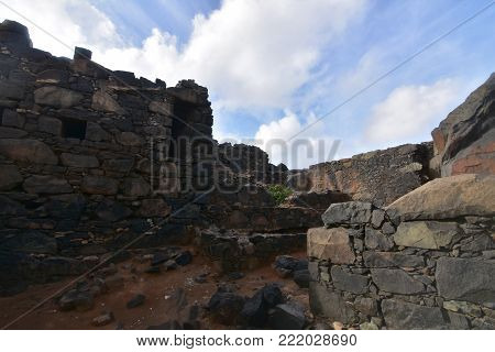 Large steps in an ancient gold mine in Aruba