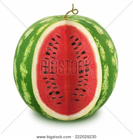 Cut watermelon isolated on a white background. With clipping path
