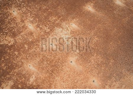 Vintage Rusty and battered metal background. Natural textured  surface background