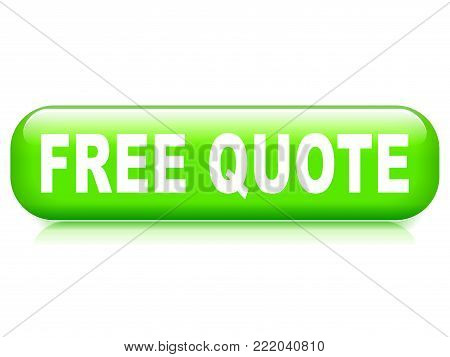 Illustration of free quote button on white background