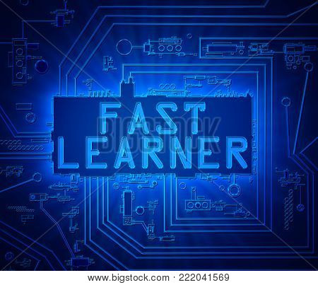 Fast Learners Concept.