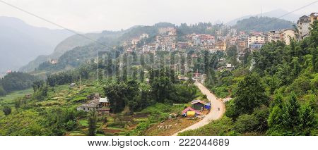 Sapa Township In Northwest Vietnam