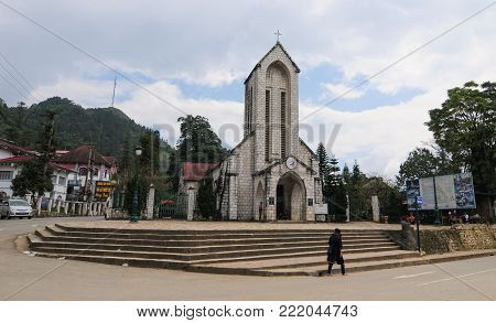 Stone Church In Sapa, Vietnam