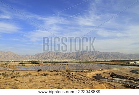algae factory on the outskirts of Eilat, Israel