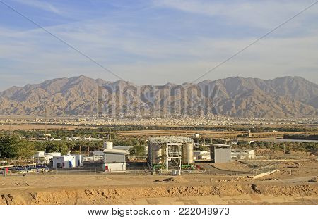 power plant on the outskirts of Eilat, Israel