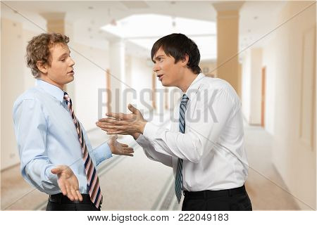 Business men colleagues argument colleague background human