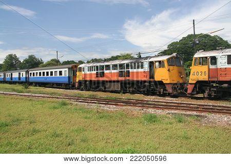 Ge Diesel Locomotive No.4036 And 4042