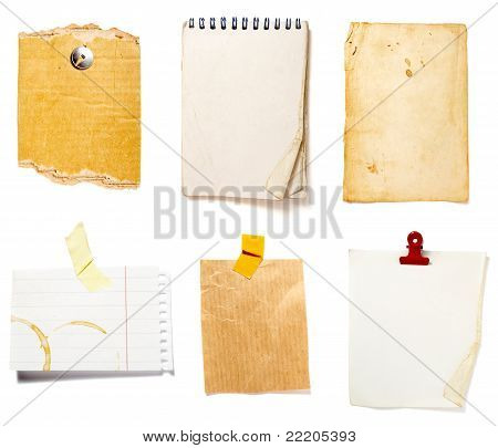 Brown Old Paper Note Background