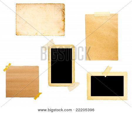 Braun Old Paper Hinweis Hintergrund