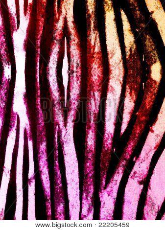 Funky Zebra Print Pink