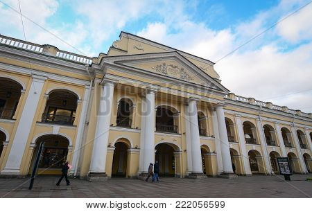 St. Petersburg, Russia - Oct 8, 2016. An old building located in Saint Petersburg, Russia. St Petersburg is inscribed on the UNESCO list as an area with 36 historical architectures.