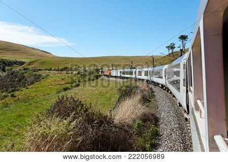 Railroad journey in the summer