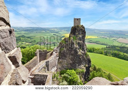 Gothic Ruins Of Trosky Castle, Czech Paradise, Czech Republic