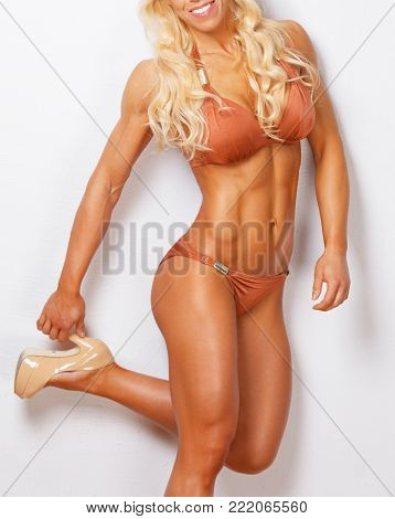 Athletic beautiful female with good shaped body