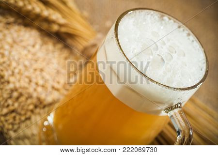 Cold mug beer beer mug pub yellow background