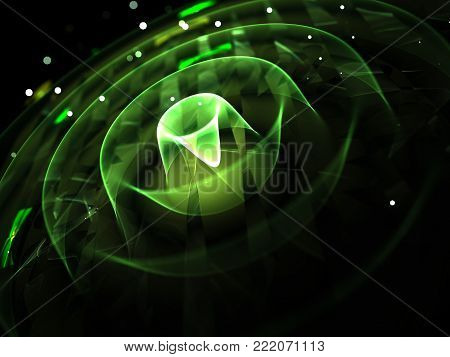 Hi Tech Wavy Futuristic Background  - Fractal Art