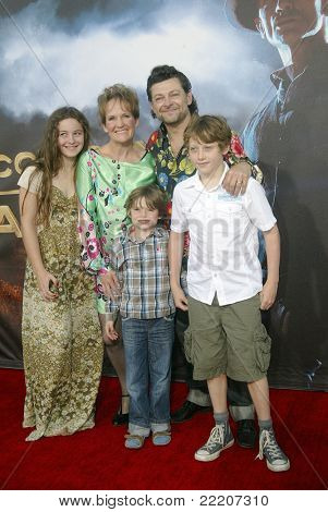 SAN DIEGO, CA - JULY 23: Andy Serkis and family arrives at the world premiere of