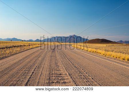 Sunrise Over The Namib Desert, Roadtrip In The Wonderful Namib Naukluft National Park, Travel Destin