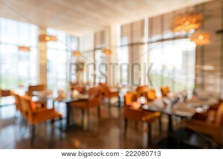 Abstrast Blurred background : restaurant cafe blur with bokeh