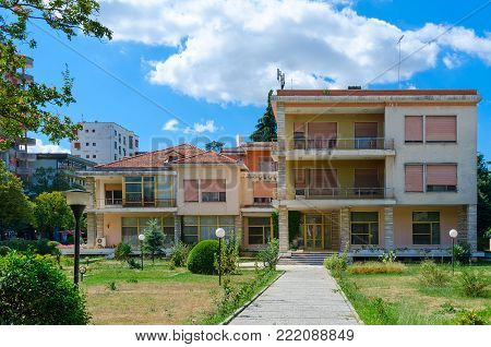 TIRANA, ALBANIA - SEPTEMBER 6, 2017: Former residence of Communist dictator of Albania Enver Hoxha