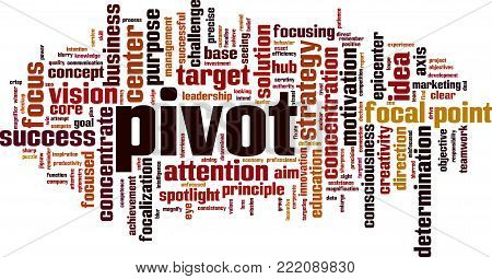 Pivot word cloud concept. Vector illustration on white