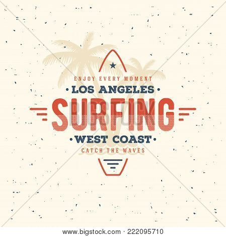Surf graphic. T-shirt apparel print graphics. Surfing Design.