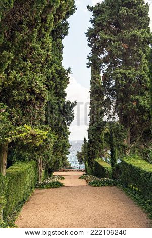Jardines de Santa Clotilde in Lloret de Mar, Costa Brava, Catalonia, Spain.