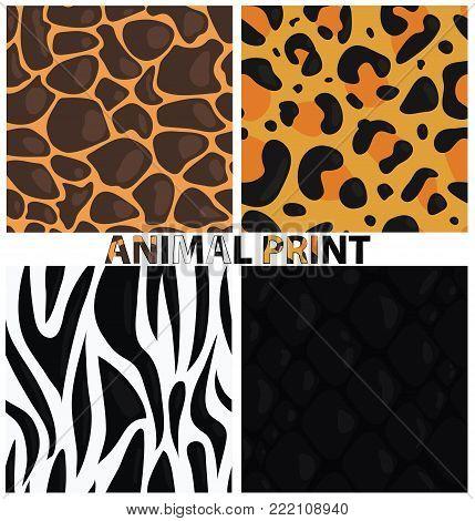 Vector Animal Print. Animal Texture. Animal Pattern