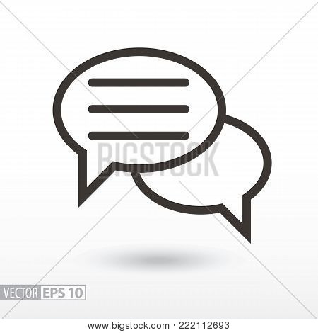 Forum flat Icon. Sign forum. Vector logo for web design, mobile and infographics. Vector illustration eps10. Isolated on white background.