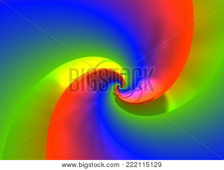 Brilliant Metal Spiral - Abstract Bright Helical Background