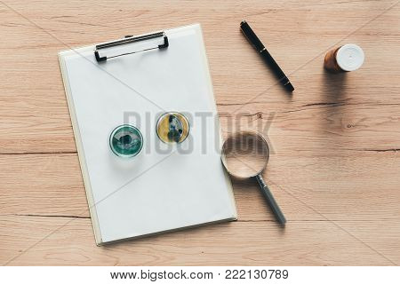 Overhead view of laboratory bacterial cultures in petri dish, science and microbiology background