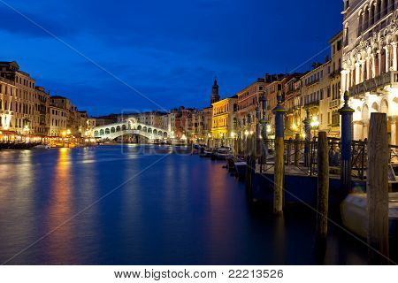 Venice At Night On The Canal Grande