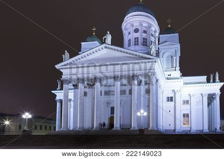 Renowned Places and Tourist Destinations. Old Lutheran Cathedral in Helsinki, Finland.Horizontal Image Composition