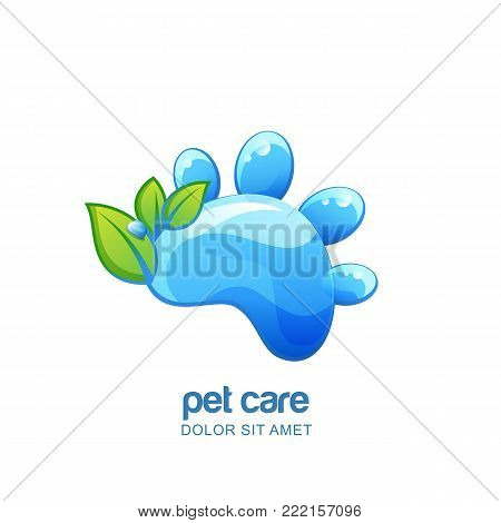 Vector Pet Shop, Veterinary Outline Logo, Emblem, Label Design. Design Concept For Vet, Pet Care, Ca