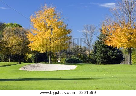 Autumn Golf Sandtrap