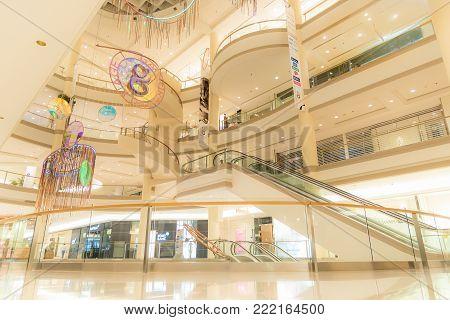 Editorial: Bangkok City, Thailand, 8Th May 2017. Gaysorn Village In Atrium Gallery Zone. Gaysorn Vil