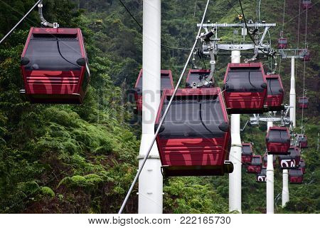 Genting Highlands, Malaysia - November 2, 2017: Awana Skyway At Genting Highlands
