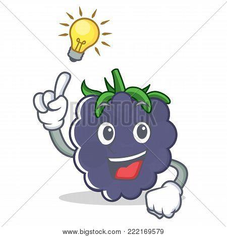 Have an idea blackberry mascot cartoon style vector illustration