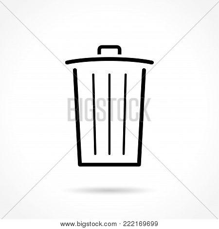 Illustration of delete thin line icon design