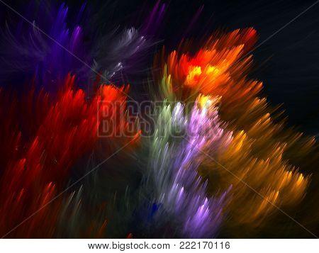 Fractal Pinnatebright  Fern  -  Fractal Abstract Art