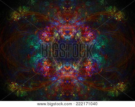 Abstract Baroque Daub Background - Fractal Art