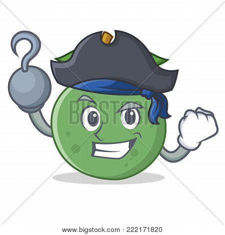 Pirate guava character cartoon style vector illustration