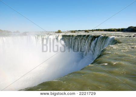 Niagara Falls Right At The Edge