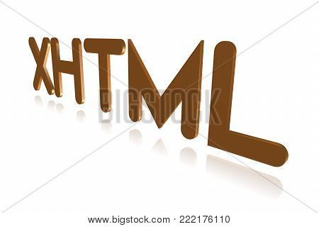 Programming Term - Xhtml - Hypertext Markup Language -  3d Image