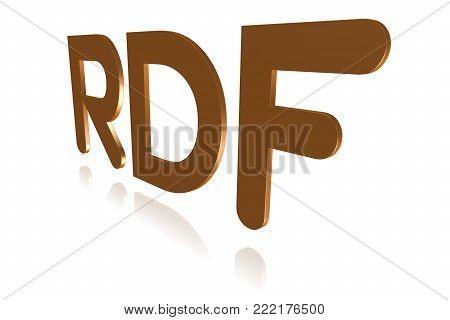 Programming Term - Rdf - Resource Description Framework -  3d Image