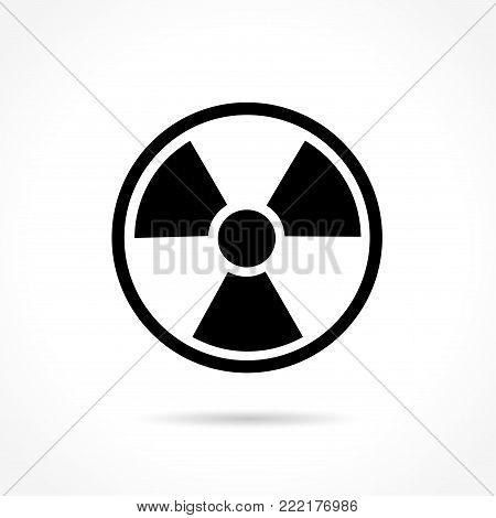 Illustration of radiation icon on white background