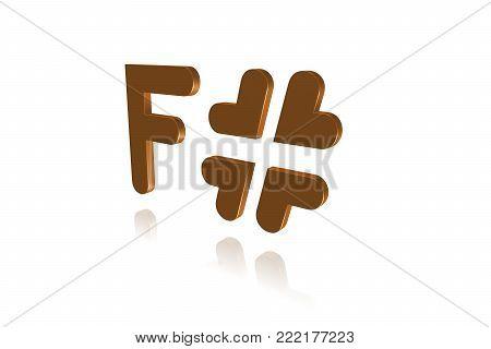 Programming Term - F# - F Sharp - Programming Language  - 3d Image