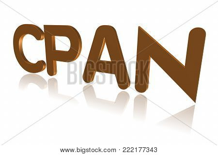 Programming Term - Cpan -  Comprehensive Perl Archive Network - 3d Image